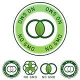 Escritura de la etiqueta no no genético modificada del alimento (ningún GMO) stock de ilustración