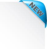 Escritura de la etiqueta nueva Imagen de archivo libre de regalías