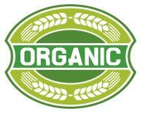Escritura de la etiqueta orgánica stock de ilustración