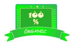Escritura de la etiqueta orgánica Imagen de archivo libre de regalías