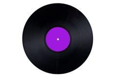 Escritura de la etiqueta púrpura del expediente de vinilo Fotos de archivo
