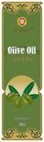 Escritura de la etiqueta para el aceite de oliva fotos de archivo