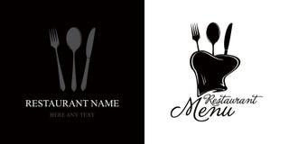Escritura de la etiqueta para el menú del restaurante Imágenes de archivo libres de regalías