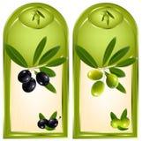 Escritura de la etiqueta para el producto. Aceite de oliva. Foto de archivo libre de regalías