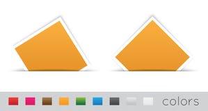 Escritura de la etiqueta rectangular Imagen de archivo libre de regalías
