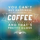 Escritura de la etiqueta retra del café Fotos de archivo