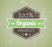 Escritura de la etiqueta retra del grunge de la vendimia del vector orgánico Imagen de archivo libre de regalías