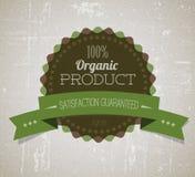 Escritura de la etiqueta retra redonda del grunge de la vendimia del vector orgánico Fotos de archivo libres de regalías