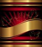 Escritura de la etiqueta roja del vector Fotografía de archivo