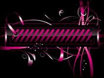 Escritura de la etiqueta rosada Foto de archivo libre de regalías