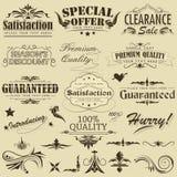 Escritura de la etiqueta superior de Qaulity de la vendimia Fotografía de archivo