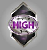 Escritura de la etiqueta superior del producto de calidad Imagen de archivo