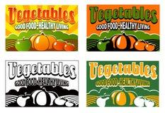 Escritura de la etiqueta vegetal del embalaje de la vendimia Fotografía de archivo
