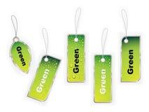 Escritura de la etiqueta verde libre illustration
