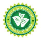Escritura de la etiqueta verde ilustración del vector
