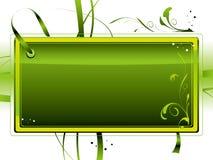Escritura de la etiqueta verde Fotos de archivo libres de regalías
