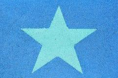 Escritura de la etiqueta verde de la estrella Foto de archivo libre de regalías