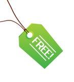 Escritura de la etiqueta verde libre de la ropa Fotografía de archivo