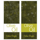 Escritura de la etiqueta verde oliva Imagenes de archivo