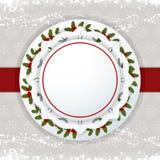 Escritura de la etiqueta y cinta del fondo de la Navidad Foto de archivo