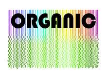 Escritura de la etiqueta y fondo orgánicos Foto de archivo libre de regalías