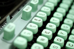 Escritura de la máquina de escribir Fotos de archivo libres de regalías