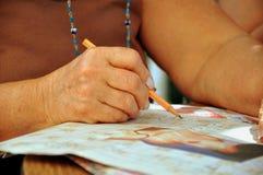 Escritura de la mano Imagen de archivo