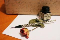 Escritura de la mano Foto de archivo