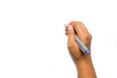 Escritura de la mano con una pluma Imágenes de archivo libres de regalías