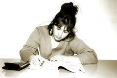 Escritura de la mujer Imagen de archivo libre de regalías