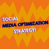 Escritura de la nota que muestra medios estrategia de optimización social Foto del negocio que muestra las estrategias de SEO Adv ilustración del vector