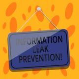 Escritura de la nota que muestra la prevención del escape de la información Información crítica de inhibición de exhibición de la libre illustration