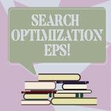 Escritura de la optimización EPS de la búsqueda de la demostración de la nota Proceso de exhibición de la foto del negocio que af libre illustration