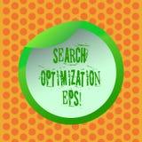 Escritura de la optimización EPS de la búsqueda de la demostración de la nota Proceso de exhibición de la foto del negocio que af stock de ilustración