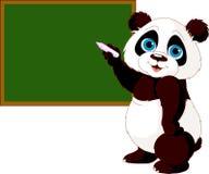 Escritura de la panda en la pizarra ilustración del vector