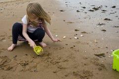 Escritura de la playa Imagenes de archivo
