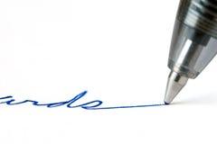 Escritura de la pluma imagen de archivo libre de regalías