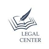 Escritura de la pluma en el libro como muestra de centro legal stock de ilustración