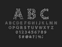 Escritura de la tipografía del alfabeto del espacio de la fuente con el ejemplo gráfico moderno tipográfico del vector del diseño Fotos de archivo libres de regalías