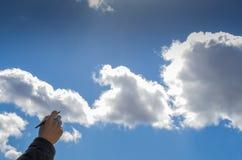 Escritura de las nubes Fotografía de archivo libre de regalías