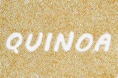 Escritura de los granos de la quinoa foto de archivo libre de regalías