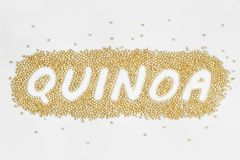 Escritura de los granos de la quinoa imágenes de archivo libres de regalías