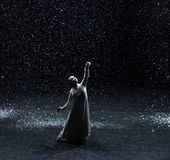 Escritura de los poemas en una noche nevosa 6-Act 1: Hay otro brote imagen de archivo libre de regalías