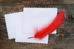 Escritura de una letra Imagen de archivo libre de regalías