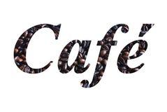 Escritura del café Fotos de archivo