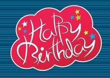 Escritura del feliz cumpleaños Imagenes de archivo