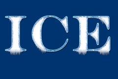 Escritura del hielo Imagen de archivo