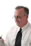 Escritura del hombre de negocios Imágenes de archivo libres de regalías