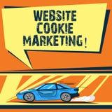 Escritura del márketing de la galleta de la página web de la demostración de la nota Información de la foto del negocio y penetra ilustración del vector
