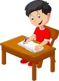 Escritura del niño pequeño de la historieta Imagen de archivo libre de regalías